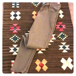Express Legging Jeans Tan Mocha Taupe Color *flaw*